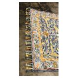 6x9FT Area Rug, Aspen Blue Rust