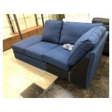 1/2 of Blue Sectional Sofa