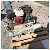 Hitachi gas powered air compressor used
