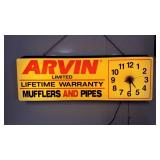 Vintage Arvin mufflers and pipes advertising