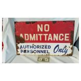 Vintage heavy metal no admittance authorized