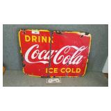 Original Coca-Cola Porcelain advertising sign
