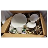 Large box miscellaneous Franciscan dinnerware