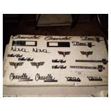 Lot of GM emblems Chevy Chevelle Nova and more