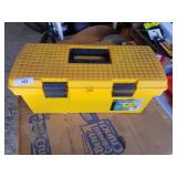 Plastic tool box with new parts