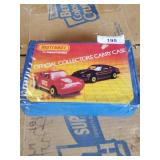 Hot Wheels and Matchbox cars with case