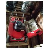 Toro push mower with bagger