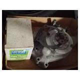 Big black Mopar aluminum water pump and fuel pump