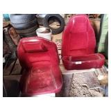 Red bucket seats unknown application