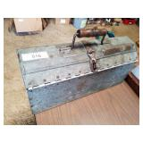 Vintage galvanized tool box