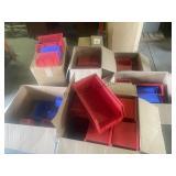 Misc Plastic storage bins +/- 100 PCS