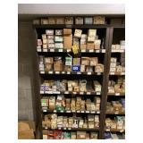 Large Hardware Lot w/ wood shelf