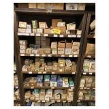Large Hardware lot w/wood shelf