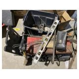 misc hand tool lot saws, grinder, drill