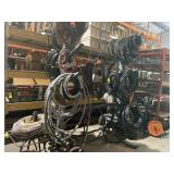 All wire on rack 4-0 ser pump cable misc