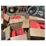 misc plastic & metal bins +/- 110 PCS