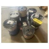 10 rolls of various wire