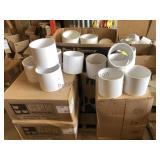 SDR 40 6 in PVC Connectors & Caps +/- 125