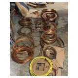 Lg lot soft L copper tubing 1/4 in - 3/4 in