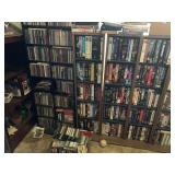 Lot of dvds vhs cassette 900+