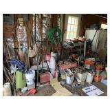 Garage tool lot