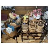 Baskets, craft lot, bags