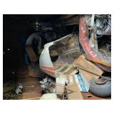 Contents of storage trailer / airplane parts