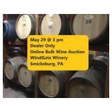Dealer Only / Windgate Vineyards Online Bulk Wine Auction