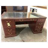 3 desks, 3 bookcases, 2 3-drawer file cabinets