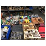 Lot of mill bits & reamers