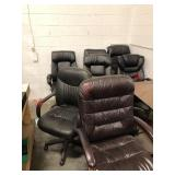 8- rolling office chairs