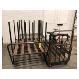 Material carts & roller stands, vise