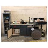 Shipping & packaging items w/ tables & cabinets