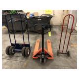 25 ton pallet jack, 1000 wheel cart, hand cart