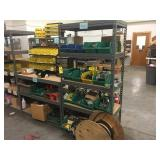 Lot of electrical hardware and shelves