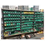 Metal rack w/ bins