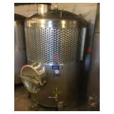 515 gln Zero Jacketed stainless fermentation tank