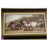 LARGE FRAMED HORSE WALL ART