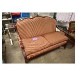 RED STRIPED LOVESEAT