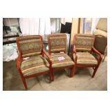 LOT OF 3 SHELBY WILLIAMS PRINT CHAIRS