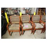 LOT OF 4 SHELBY WILLIAMS ROLLING PRINT CHAIRS