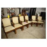 LOT OF 6 BEIGE PRINT ARM CHAIRS BY FAIRFIELD