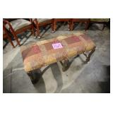 RED PRINT PADDED BENCH