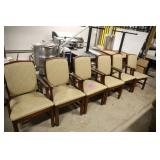LOT OF 6 FAIRFIELD BEIGE ARM CHAIRS