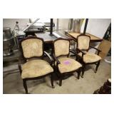 LOT OF 3 BEIGE FLORAL PRINT CHAIRS