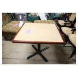 SQUARE PEDESTAL COMMERCIAL GRADE DINING TABLE