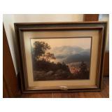 group of framed art & vintage frame
