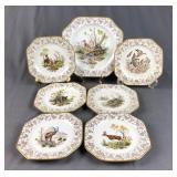 Limoges Wildlife Plates