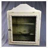 Wooden Wall Hanging Curio Cabinet
