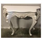 White Rococo Console Table